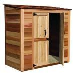 Outdoor Living Today Spacesaver 8 ft. x 4 ft. Western Red Cedar Double Door Storage Shed-SS84DD at The Home Depot / Pricey Though at $1999