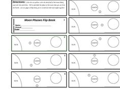 Free: MOON PHASES FLIPBOOK - TeachersPayTeachers.com