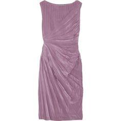 Albert Ferretti Pleated Silk Dress