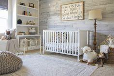 Farmhouse Nursery Furniture, Rustic Nursery, Nursery Neutral, Neutral Nurseries, White Nursery Furniture, Nursery Themes, Nursery Room, Nursery Ideas, Elephant Nursery