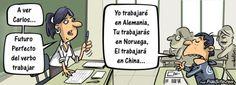 Futuro perfecto del verbo trabajar Vía: PilloSitio.com #humor #tiras #crisis #trabajo #trabajar