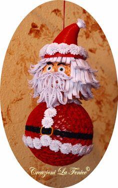 Creazioni La Fenice: Sfera Babbo Natale quilling