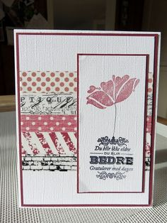 1-kort med tape-burgunder