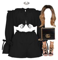 """""""12.06.17"""" by jamilah-rochon ❤ liked on Polyvore featuring Boohoo, Sam Edelman, Jules Smith and Gucci"""