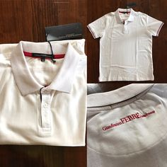 Gianfranco Ferrè Men's Polo. Maglia Maniche Corte Uomo. White. #gianfrancoferre #gianfranco #ferre #mens #uomo #polo #tshirt #white #bianco