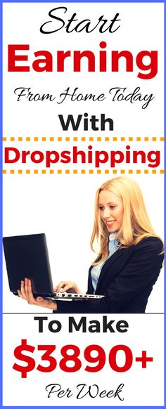Dropshipping business (E-commerce Business) is the one of best side hustle. It doesn't take a lot of time and it's a great way to make money from home. It's perfect for people working a nine to five or busy moms. Start earning passive income from home. Make $3890 Per Week. Click to see how >>>