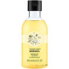 The Body Shop Moringa Shower Gel is a soap-free shower gel that contains real mooring seed oil and has the delicate scent of white flowers.