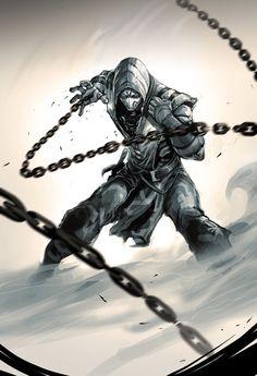I'll be doing the artwork for Mortal Kombat X comic. Mortal Kombat X Arte Ninja, Ninja Art, Game Character, Character Concept, Concept Art, Anime Art Fantasy, Escorpion Mortal Kombat, Illustration Mode, Fantasy Warrior
