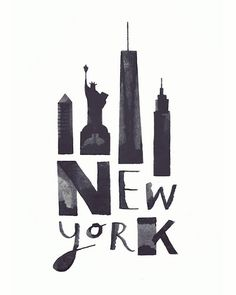 Black-And-White Calligraphic Drawings Feature Iconic Landmarks Of Cities - DesignTAXI.com