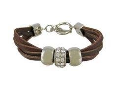 Zeckos Brown Leather 3 Bead Multi Strand Bracelet for sale online Fashion Bracelets, Jewelry Bracelets, Jewelery, Leather Jewelry, Beaded Jewelry, Diy Jewelry Inspiration, Strand Bracelet, Women's Accessories, Creations