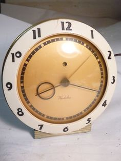 Westclox art deco alarm clock