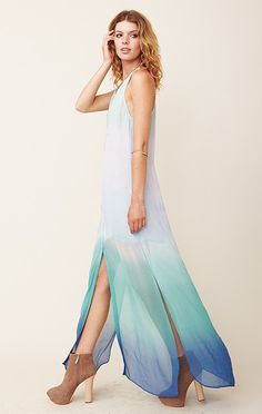 Water colors maxi dress  {love those colors, wish the colors came up higher on the dress}