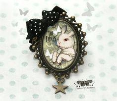 Grande bague °Ladies° PORT OFFERT lapin papillons cabochon resine - bague - Tendres moments - Fait Maison