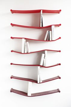Rubber Bookshelves #bookshelves Comment Ranger, I Love Books, Coin Lecture, Book Storage, My Dream Home, Sweet Home, Sculpture, Industrial Design, Interior Design