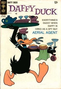 Daffy Duck 20 Golden Key comic book cover Looney Tunes