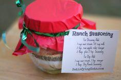 10 Affordable, NO-Bake Christmas and Holiday Gifts | Satisfying Eats  ranch dressing mix