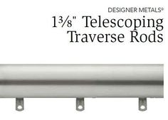 """Satin Nickel KIRSCH DESIGNER METALS Traverse Rod,66""""-120"""", Smooth w/Slides *** You can get more details by clicking on the image."""