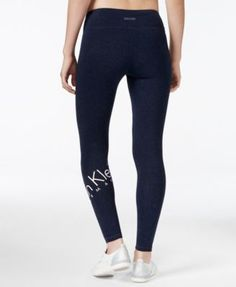 A logo wrapped at the calf adds signature style to these sleek leggings from Calvin Klein Performance. | Cotton/spandex | Machine washable | Imported | Low rise | Skinny fit through hips and thighs |