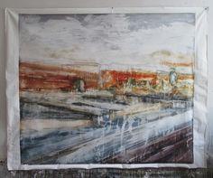 AM, 180x160cm, acrylique sur toile.