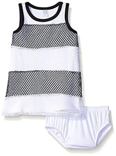 642a1bf96e7 Amy Coe Baby Girls  Mesh Stripe Dress with Panty Set