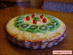 Dragostea in bucate: PLACINTA / TARTA CU BUDINCA DE OREZ , BRANZA SI ANANAS Pudding, Desserts, Food, Pie, Tailgate Desserts, Deserts, Custard Pudding, Essen, Puddings