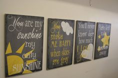 Wood Nursery Wallhanging You Are My Sunshine by RusticlyInspired