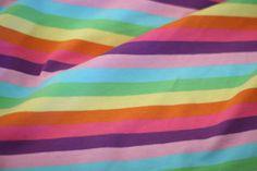 Electric Rainbow Cotton Lycra