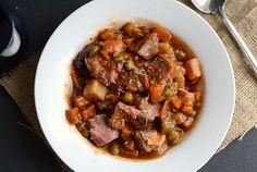 Provencal Crock Pot Lamb Daube