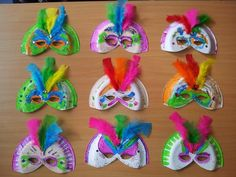 Carnival mask. Máscaras de carnaval #kidscraft #recycling -Neverland