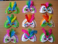 Carnival mask. Máscaras de carnaval #kidscraft #recycling -Neverland