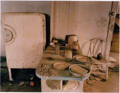 Kitchen of abandoned farmhouse, North Dakota.