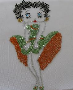 Betty Boop In Green And Orange