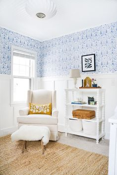 Francois Renovates The Nursery Before & After! (Video is part of Boy nursery themes - Francois Renovates The Nursery Before & After! Baby Boy Nursery Themes, Baby Boy Nurseries, White Nursery, Nursery Neutral, Blue Nursery Girl, Blue Nursery Ideas, Instagram Design, Nursery Design, Nursery Decor