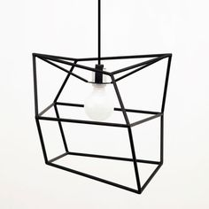 Small Spica by Iacoli & McAllister Cool Lighting, Chandelier Lighting, Modern Lighting, Lighting Design, Wire Lighting, Lighting Ideas, Desk Light, Light Up, Geometric Lamp