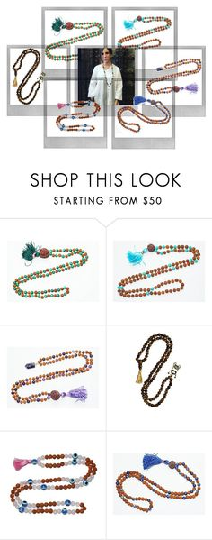 """Buddhist Healing Chakra Stone Necklace"" by boho-chic-2 ❤ liked on Polyvore featuring Lazuli and Polaroid"