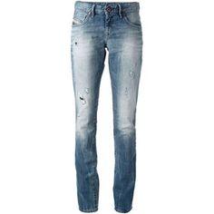 Diesel My Boy Distressed Skinny Jeans