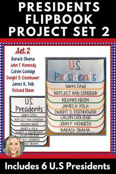 Presidents, Research Project, Set Flip Book, Writing Prompts, President's Day History Projects, Book Projects, Research Projects, American History Lessons, Women's History, Black History, Middle School Classroom, Flip, Sixth Grade