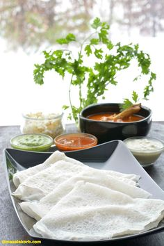 Preparation of Neer Dosa   Mangalorean Neer Dosa Recipe