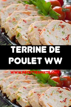 We offer you the recipe for ww chicken terrine, a delicious light, tasty terrine, easy to make and ideal to serve as a starter or as a main dish. This recipe of chicken and vegetable terrine is easy a Bone In Chicken Recipes, Easy Crockpot Chicken, Baked Chicken Recipes, Chicken Appetizers, Appetizer Recipes, Dinner Recipes, Dinner Entrees, Chicken Terrine, Plats Weight Watchers