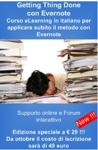Corso online Getting Things Done (GTD) per Evernote