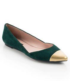 Emerald + Gold Flats