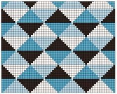 Triforce-iltalaukku pattern by Molla Mills Bargello Patterns, Tapestry Crochet Patterns, Pixel Crochet, Crochet Chart, Bead Crochet Rope, Diy Crochet, Tunisian Crochet, Cross Stitch Pattern Maker, Cross Stitch Patterns