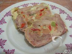 Recept Mňamózní kuřecí roláda - Kuřecí roládka - je prostě vynikající. Cooking Recipes, Meat, Food, Chef Recipes, Essen, Meals, Yemek, Eten
