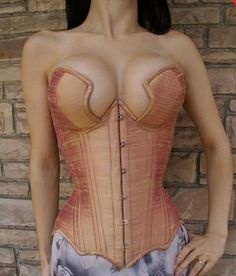 cupped silk corset