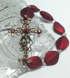 Ornate Cross Stretch Bracelet