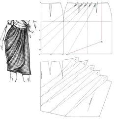 Draped wrap skirt