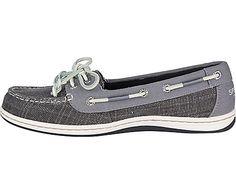 Firefish Canvas Boat Shoe, Grey