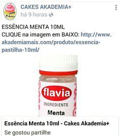ESSÊNCIA MENTA 10ML CLIQUE na imagem em BAIXO: http://www.akademiamais.com/produto/essencia-pastilha-10ml/