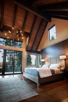 master bedroom for my dream house on Mackinac Dream Bedroom, Home Bedroom, Bedroom Decor, Master Bedrooms, Wooden Bedroom, Attic Bedrooms, Bedroom Retreat, Master Suite, Bedroom Ideas