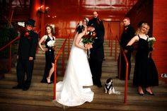 Great photo from a wedding at the Citadel Theatre in Edmonton